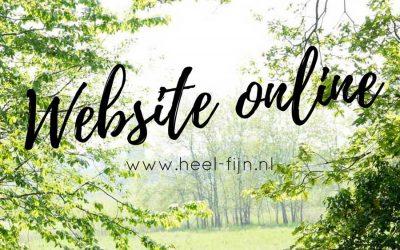 Nieuwe website Heel fijn