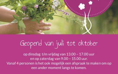 De bloemenpluktuin gaat open op zaterdag 6 juli.